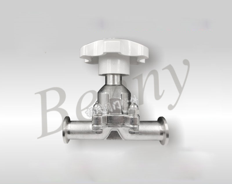 Stainless Steel Manual High Vacuum Diaphragm Valve GM Series KF16 KF25 Manual Quick Diaphragm Valve