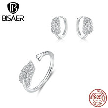 Jewelry Sets Sterling Silver 925 Rings Hoop Earrings for Girls Gift