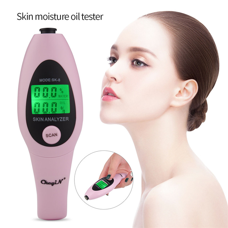 Professional Precision Skin Oil Content Analyzer LCD Digital Detector Skin Moisture Meter Face Care Health Monitoring Device