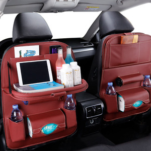 Image 5 - Car Seat Back Organizer Storage Bag Travel Holder in Car Goods Universal PU Leather in Auto Back Seat Bag Protector Accessoires