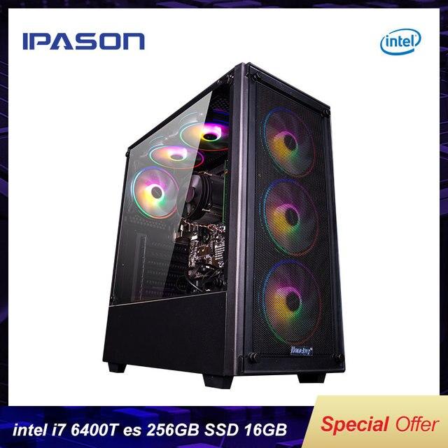 IPASON Gaming Desktop Intel I7 6400T es QHQG ES Engineering version  2.2GHz 16G RAM 256G SSD High Performance Diy Gaming Desktop 1