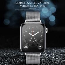Mi lanese петля магнитный ремешок для Xiao mi Смарт часы браслет из нержавеющей стали для mi часы аксессуары