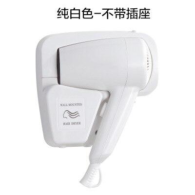 DMWD мощный электрический фен для волос, подвесное настенное крепление для ванной комнаты отеля, Быстросохнущий Горячий Воздуходувка холодного воздуха с розеткой, Фен - Цвет: White without socket
