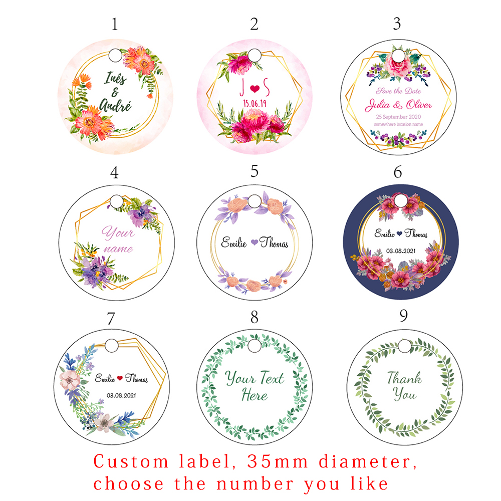 H1 200 Pcs 3.5cm Round Kraft/white Paper LabelHandmade Hand Made For You Gift Baked Goods Product Label Personalized Tag