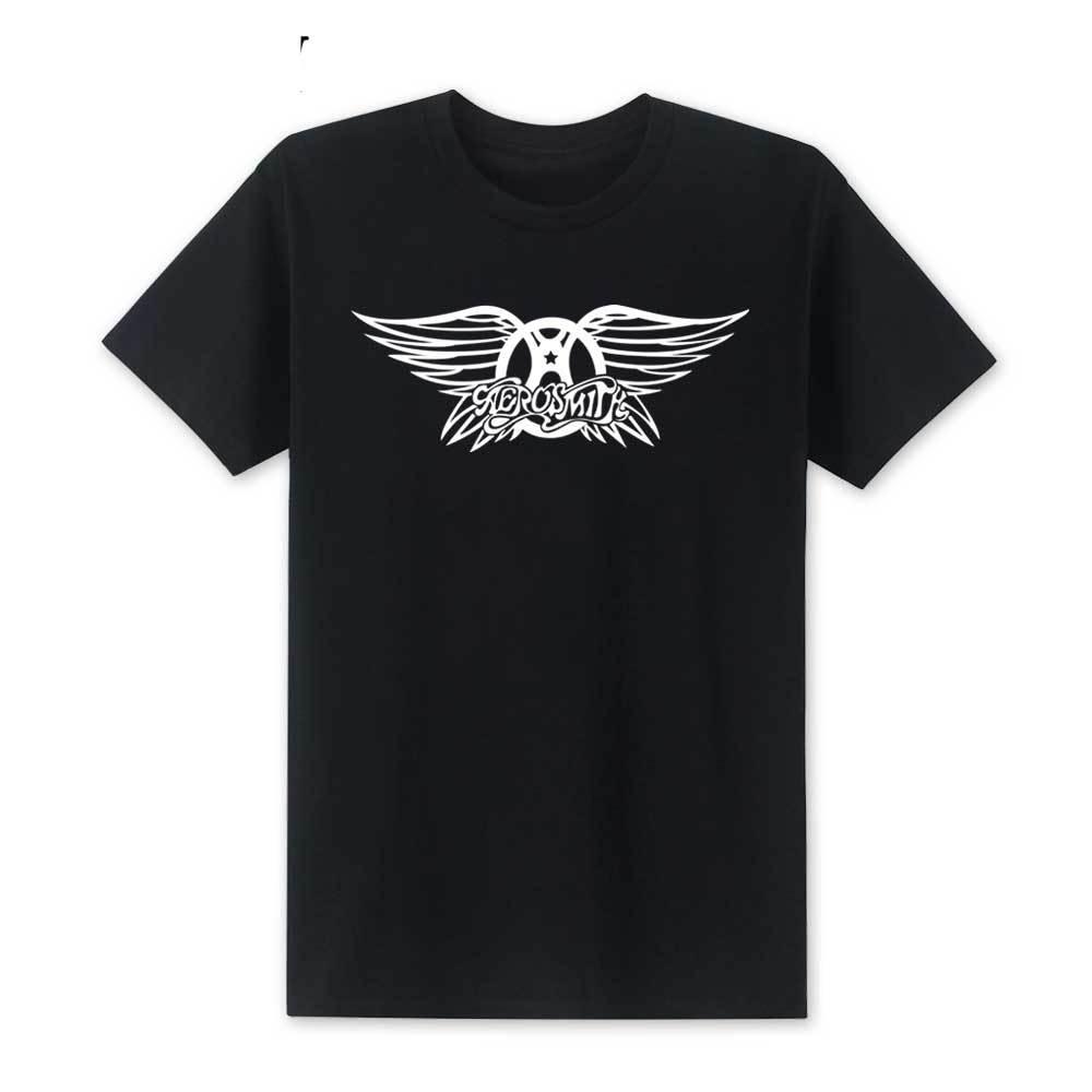 2019 New Fashion Aerosmith T Shirt Summer Style Men Rock Band Tshirts Short Sleeve Cotton Roll T-shirts Size s-XXL