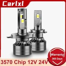 Carlxl 12V 24V Canbus H4 LED H7 LED Car Truck LED Headlight H1 H8 H9 H11 9005 9006 9012 Auto Fog Lamp 20000LM 6000K Light Bulb