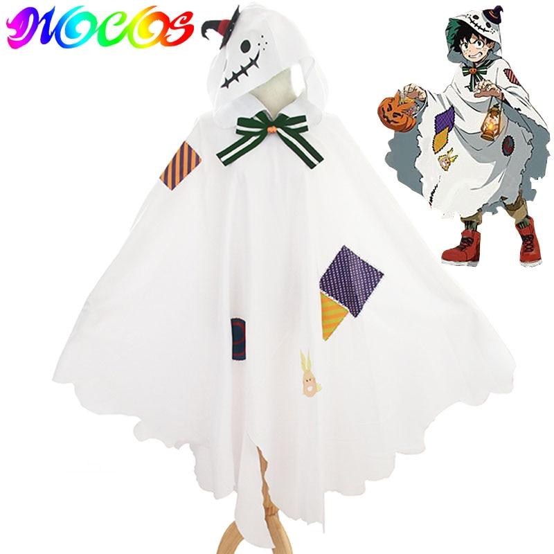 DIOCOS Boku Hiçbir My Hero Academia Midoriya Izuku Cosplay Peruk Kostümleri Pelerin pelerin Cadılar Bayramı Noel