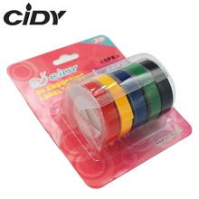 cidy 5PCS Multicolor Dymo 3D 6/9/12mm Embossing Label Tape Compatible Dymo 1610/12965/1540/1880  for Motex E101 Label Makers labelife 5pcs 9mm 3m dymo 3d plastic mixed color embossing tapes for embossing label makers dymo 1011 1610 1595 15447 12965