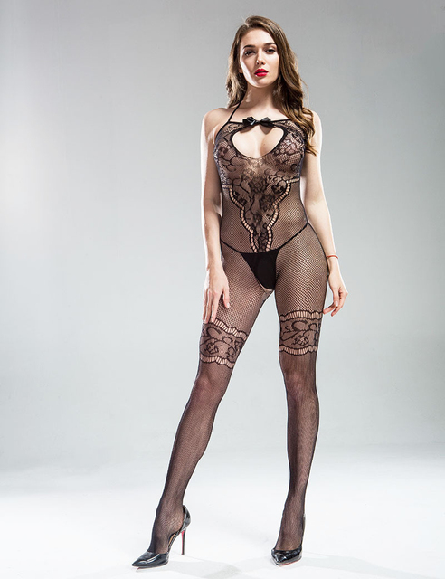Sexy lingerie Teddies Bodysuits hot Erotic lingerie open crotch elasticity mesh body stockings hot porn sexy underwear costumes 6