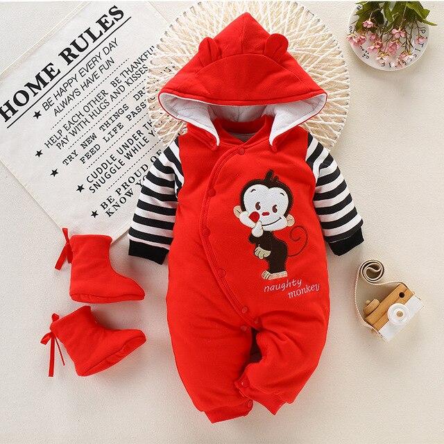 KimSoong Newborn Baby Boys Girls Cartoon Dinosaur Hoodie Romper Onesies Jumpsuit Outfits Toddler Autumn Jumpsuits