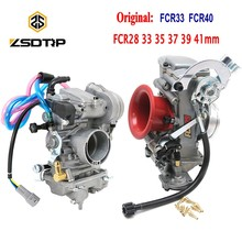 ZSDTRP FCR28 31 33 35 37 39 40 41mm Keihin FCR Carburetor FCR39 for CRF450/650 FS450 Husqvarna450 KTM Racing Motor Add Power 30%