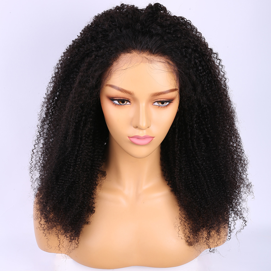 ALIBELE peluca rizada Pre desplumada 150 densidad 13x4 pelucas de pelo humano frontal de encaje sin pegamento para mujeres negras peluca de pelo brasileño-in Peluca de encaje de cabello humano from Extensiones de cabello y pelucas on AliExpress - 11.11_Double 11_Singles' Day 1
