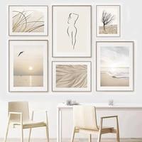 Cuadro sobre lienzo para pared, carteles nórdicos e impresiones de imágenes de pared para decoración para sala de estar