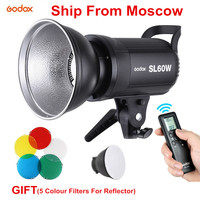 Godox SL60W LED White Version Video Light Bowens Mount Continuous Light With Fiver Color Filters For Studio Video Recording