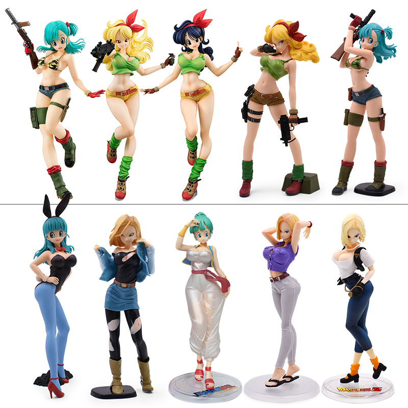 Dragon Ball Z Anime Figure Cute Girls Bulma Lunch Launch Videl Android 18 Lazuli PVC Action Figures Collectible Model Toys Gift