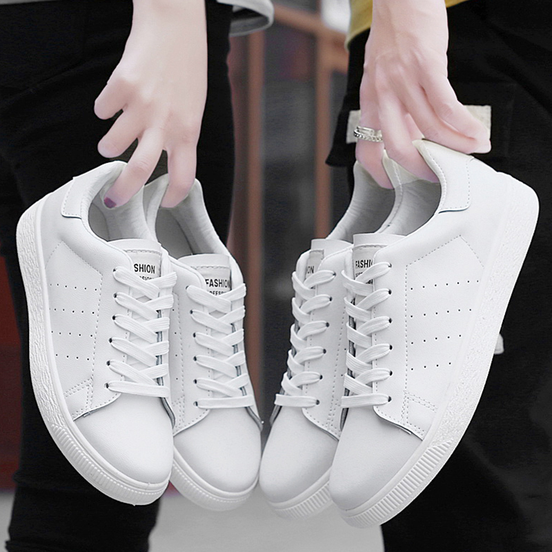 2019 New Casual Shoes Tenis Masculino Leather Flat Shoes Lace-up Low Top Men Sneakers