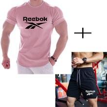 2 шт/компл Мужская спортивная одежда для спортзала фитнеса бадминтона