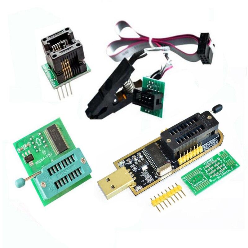 Adaptateur programmateur CH341 + adaptateur SICO8 + pince sop8 avec câble + adaptateur 1.8 vadaptateur EEPROM Flash BIOS USB programmeur ZIF adaptateur