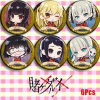 Japan Anime Kakegurui Zwanghaften Gambler Yumeko Jabami Cosplay Bedge Cartoon Sammeln Taschen Abzeichen Für Rucksack Taste Brosche Pin