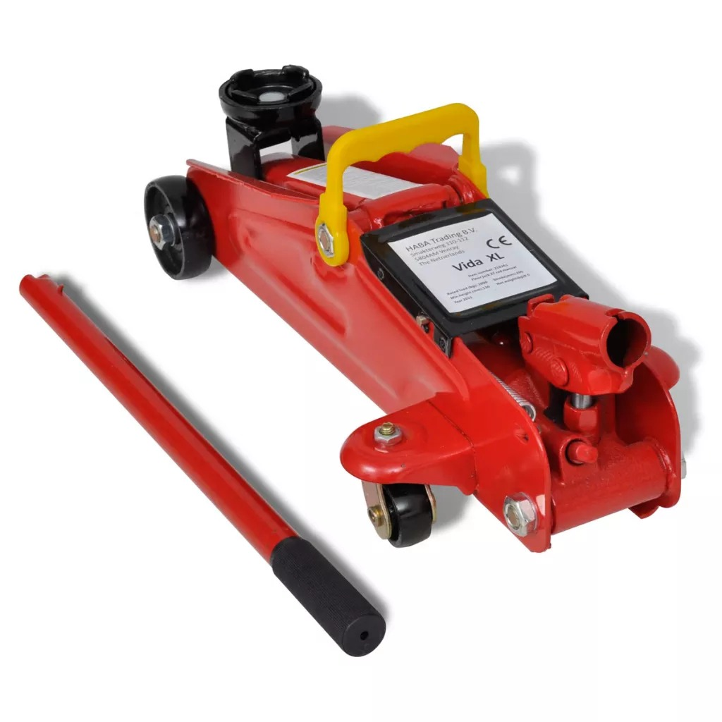 VidaXL Car Lift Floor Jack Hydraulic Trolley Jack Automotive Lifter Trolley Jack Repair Tool 2 Ton Red Repair Tools Kit