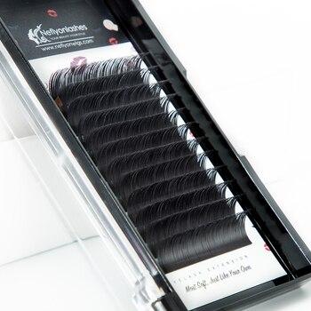 Neflyonlashes False Eyelash Extension Korean Silk Lashes Faux Mink Individual Eyelashes Natural Synthetic Eyelash Cilia Lashes