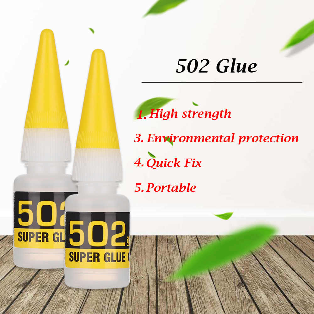 1Pcs Instant Quick-drying Cyanoacrylate Adhesive Strong Bond Fast Leather Rubber Metal 8g Office Supplies 502 Super Glue