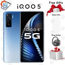 Оригинальный vivo iQOO 5 мобильный телефон 6,28 дюймов 120 Гц Частота обновления экрана 8G + 128G Snapdragon 865 Android 55W Dash зарядный смартфон
