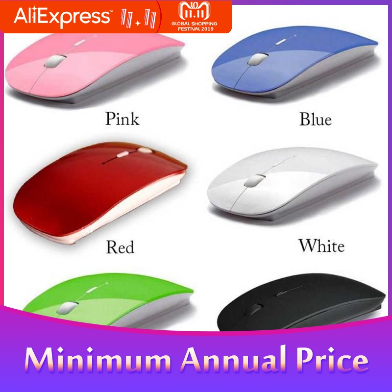 HobbyLane Ultra Thin 2.4G Optical Wireless Mouse USB Receiver Air Mouse For Laptop Notebook Computer Mouse R20