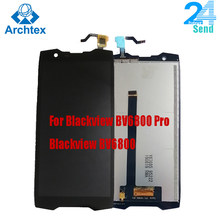 Para original blackview bv6800 bv6800 pro display lcd + tela de toque digitador assembléia substituição 5.7 fffhd 18:9 ips display