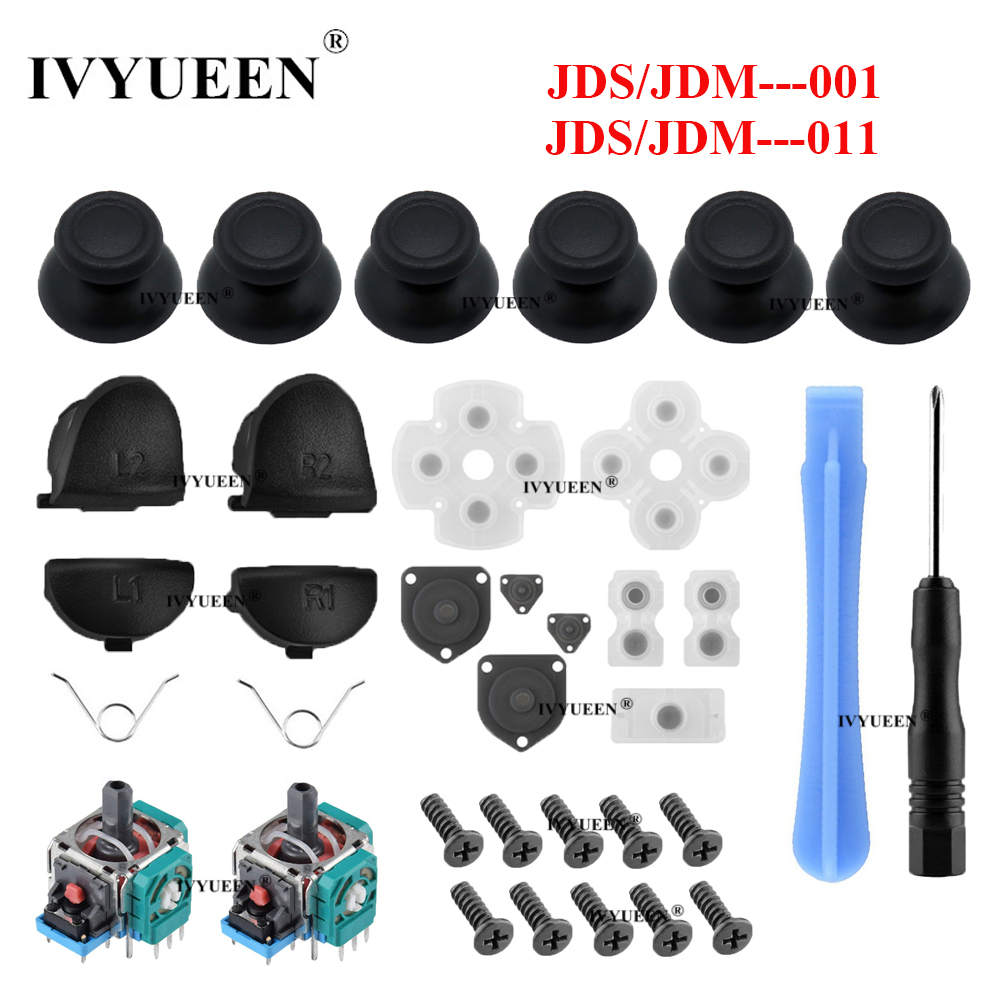31 In 1 Grips For PlayStation 4 PS4 Pro Slim Controller R2 L2 Trigger Buttons 3D Sensor Analog Thumb Stick Caps & Screws Tools