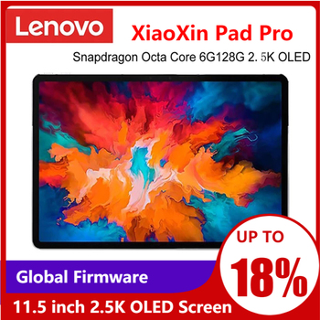 Global Ffirmware Lenovo XiaoXin Pad Pro Snapdragon Octa Core 6GB RAM 128GB 11.5 inch 2.5K OLED Screen lenovo Tablet Android 10 1