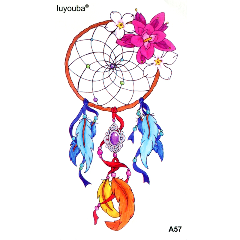 Beautiful Dream Catcher Waterproof Temporary Tattoos Men  Fake Tattoo Body Tattoo Stickers Henna Tatoo Women Temporary Tattoo