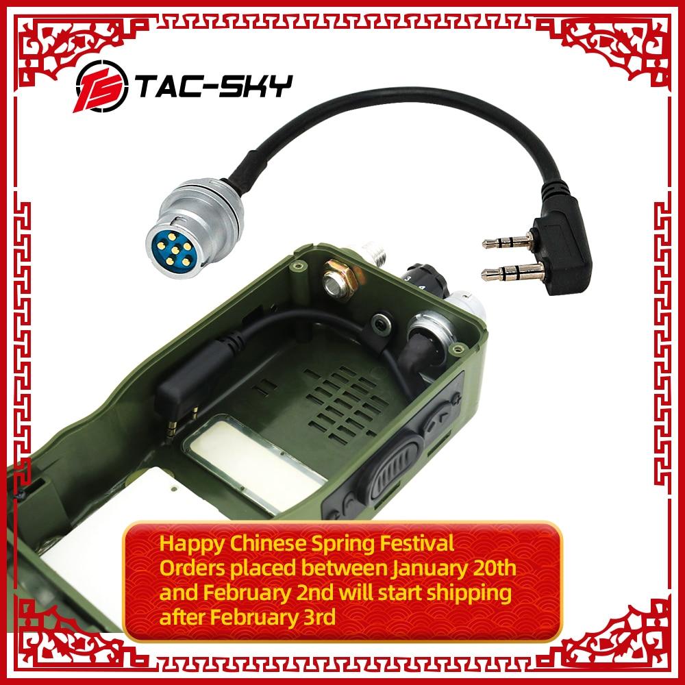 TAC-SKY AN/PRC 148 152 152A Walkie-talkie DIY Connector U 283 U-283/U 6-pin Plug To Kenwood Socket Adapter