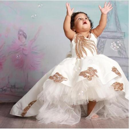 Little Princess High Quality Baby Dress For Girl Baptism Christening 1st Birthday Party Newborn Gift Infant Tutu Girls Gown