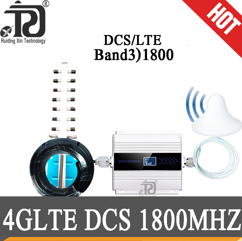 4g Signal Booster 1800 MHz Cellular Amplifier Gsm Repeater 1800 LTE DCS 1800MHZ Mobile Signal Booster 2G 4G 1800 Repeater