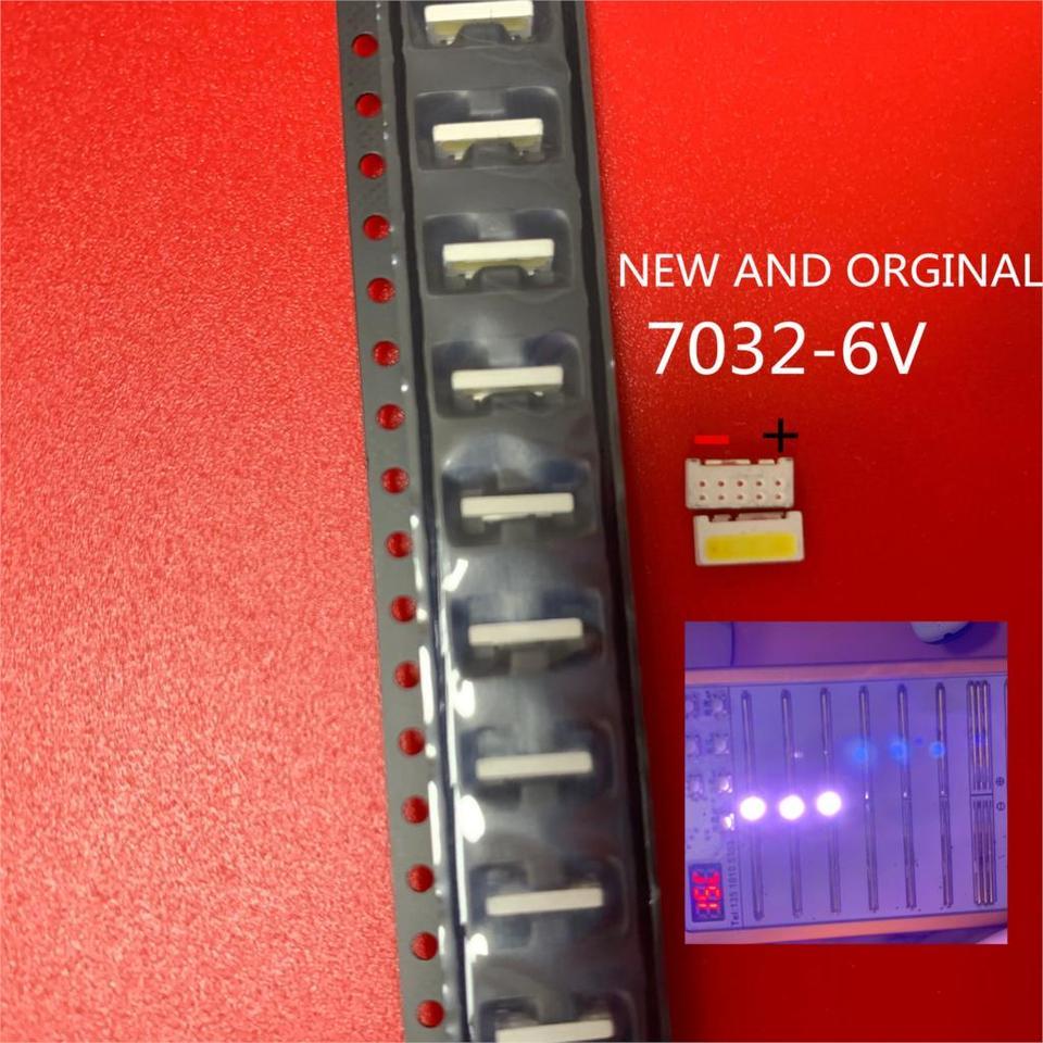 50PCS//Lot Edge SMD LED 7032 6V Lumens 1W 160mA New and Original Cool White High