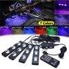 7 couleurs voiture LED atmosphère lumières étoilées Flash stroboscope contrôleur USB Auto intérieur lampe rvb musique rythme tactile et contrôle du son