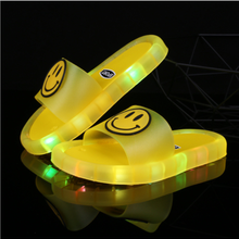 2021 Summer Girls Boys Luminous Slippers Children Soft PVC Shoes Toddler Kids Home Sandals Comfortable Baby Slides yellow shoes