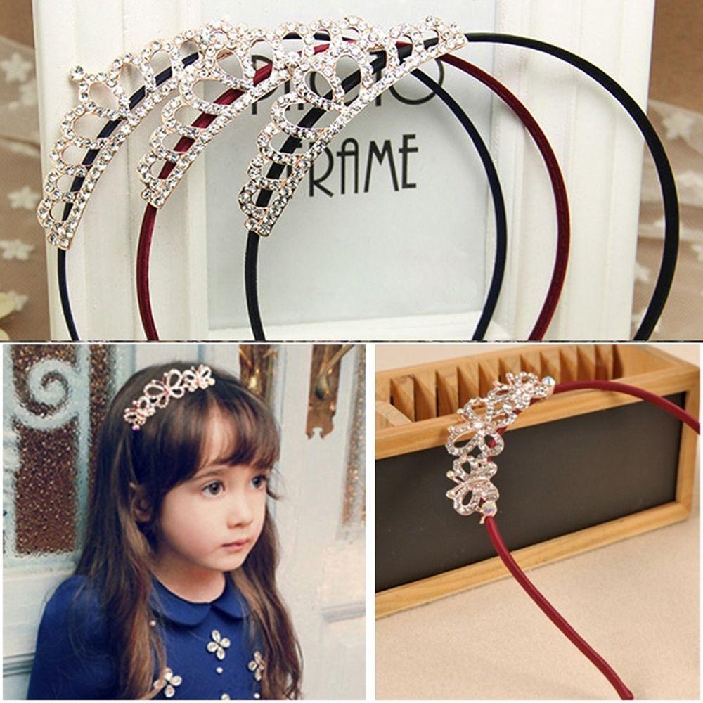 Princess Tiaras Baby Girls Kids Headbands Crowns Hair Accessories Butterflies