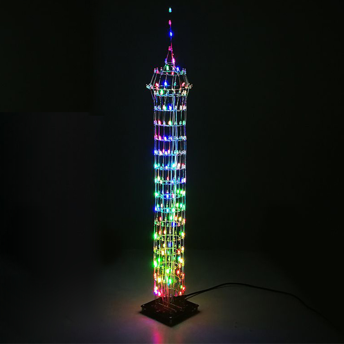 DIY Colorful LED Display Lamp Infrared Remote Control DIY Welding Light Kits DIY Lamp Brain-Training Toy For Child - Macao Tower