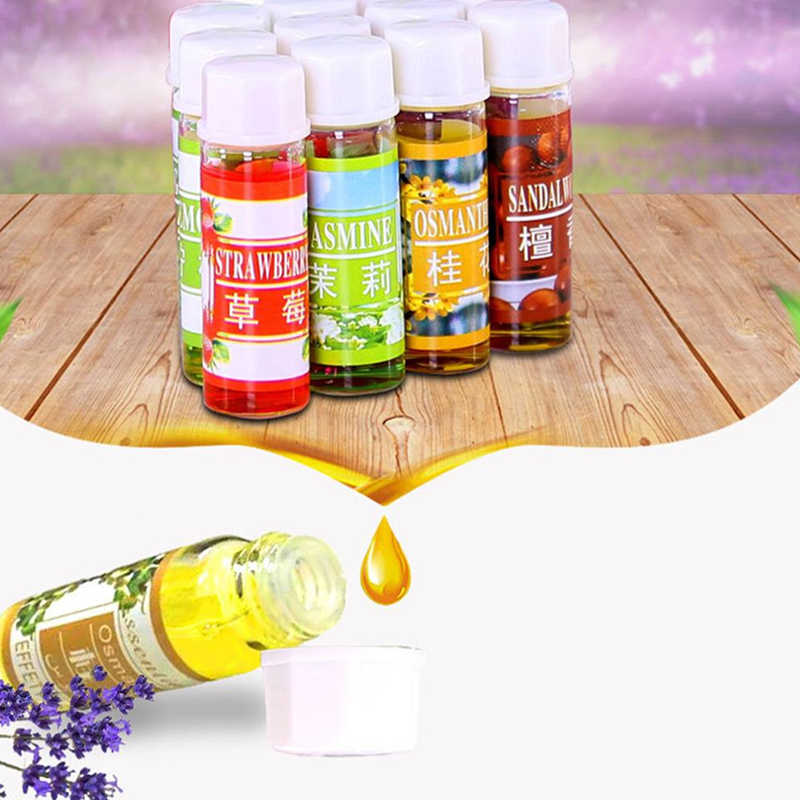 12 botellas/botellas de aceite esencial para difusor de aceite de aromaterapia humidificador 6 Tipo de 5ML botella de fragancia de aromaterapia Natural de aceite para Spa