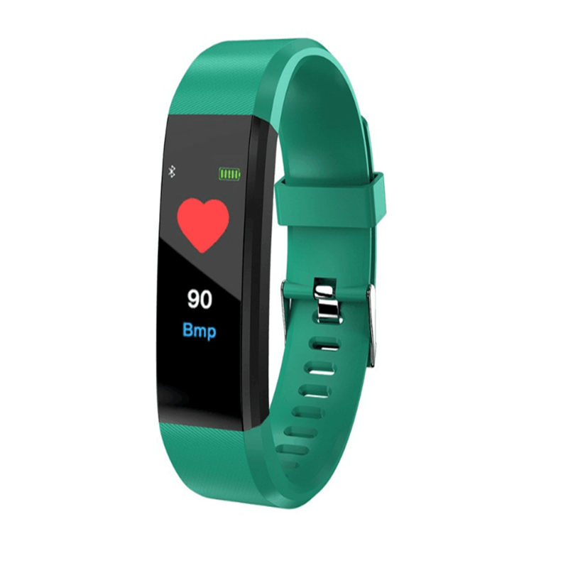2020 Newest <font><b>Amazon</b></font> hot sale Color screen smart sport bracelet 115Plus for Android ios <font><b>fit</b></font> bit smart bracelet image