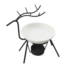 Living Room Iron-Candle-Holders Aromatherapy Furnace Deer Shape Oil Burner Creative Modern Minimalist Stove Lamp Decorations