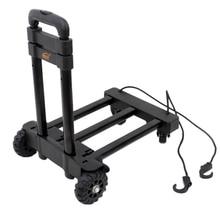 Портативная Складная ручная тележка с поворотными колесами на 360 градусов, тележка для багажа, складная тележка, оборудование для переноски, емкость 120 Ibs
