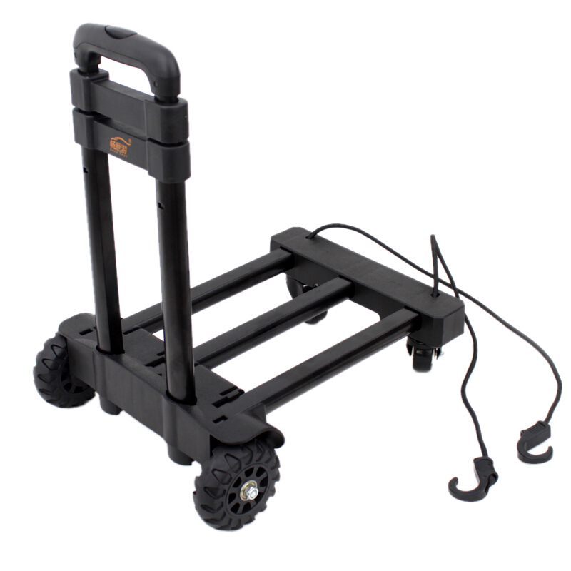 Portable Folding Hand Truck 360-degree Swivel Wheels Trolley Push Luggage Cart Foldable Dolly Equipment Carrier 120 Ibs Capacity