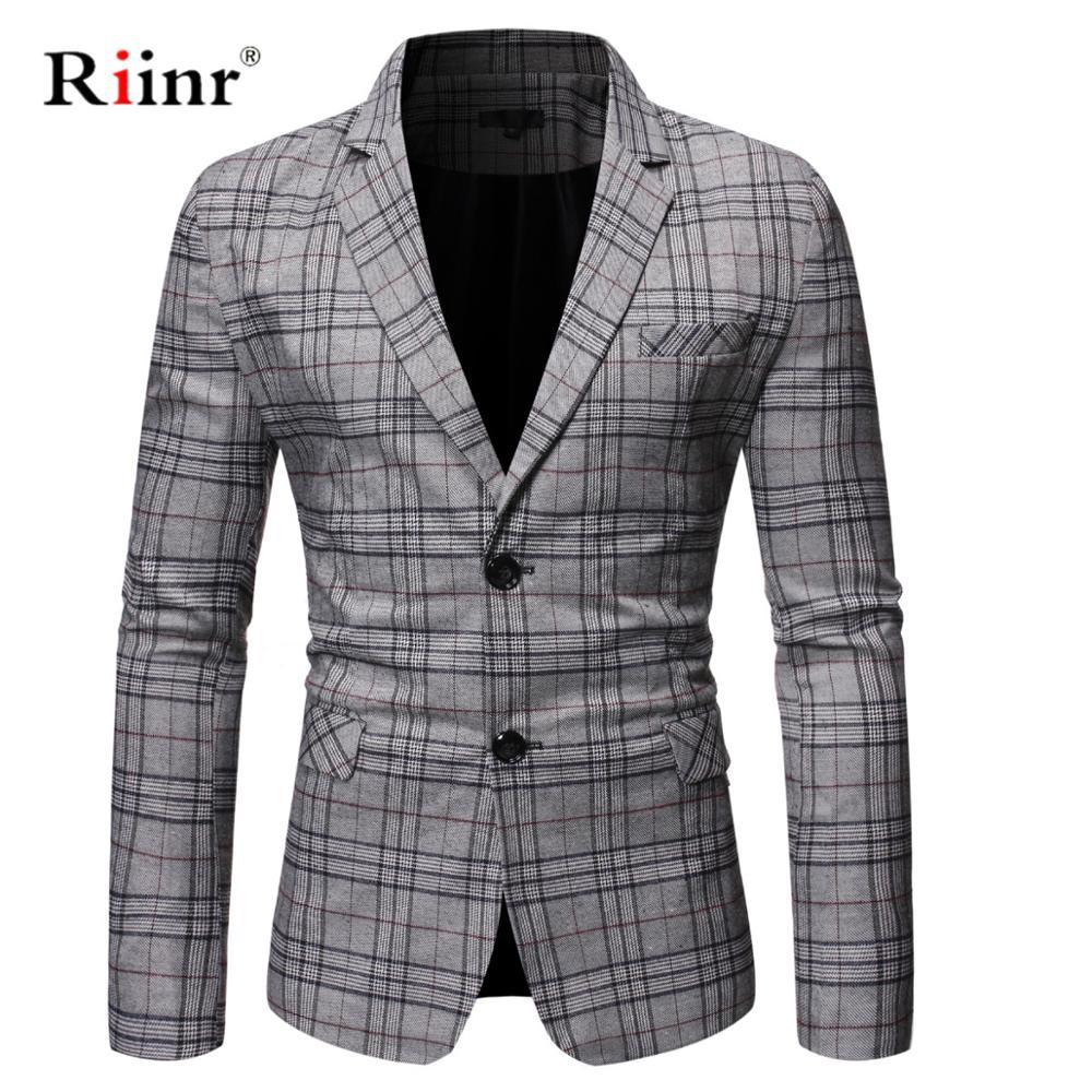 2019 New Arrival Brand Clothing Jacket Autumn Suit Jacket Men Blazer Fashion Slim Male Suits Casual Blazers Men Size M-3XL