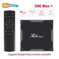 X96 MAX Plus Android 9.0 tv, pudełko Amlogice S905X3 8K wideo Google Player sklep Wifi bezprzewodowy Youtube HD Netflix 1000M X96 MAX X3