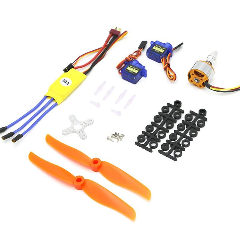 A2212 2200KV Brushless Motor 30A ESC Motor 6035 Propeller SG90 9G Micro Servo For RC Fixed Wing Plane Helicopter