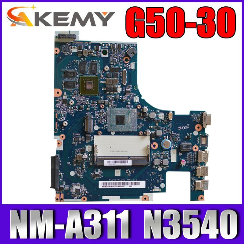 ACLU9 / ACLU0 <font><b>NM</b></font>-<font><b>A311</b></font> motherboard for Lenovo G50-30 notebook motherboard CPU N3540 GT820M 1G DDR3 100% test work image