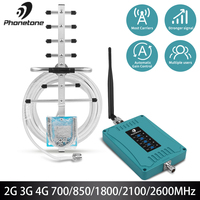 Mobiele Telefoon Signaal Booster lte Repeater 2G 3G 4G Versterker LTE 700/850/1800/ 2100/2600MHz Celular Signaal Booster 70dB GSM Repeater